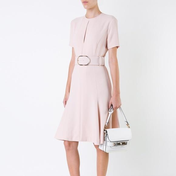 STELLA MCCARTNEY belted keyhole pink mini dress